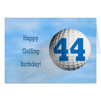 44th birthday golfing card