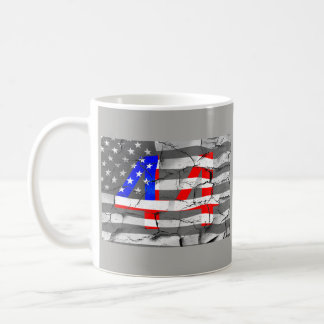 44th President Obama Fan Flag Coffee Mug