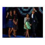 44th USA Presidential Family Postcard-2012 Re-Elec