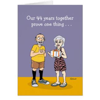 44th Wedding Anniversary Card: Love Card