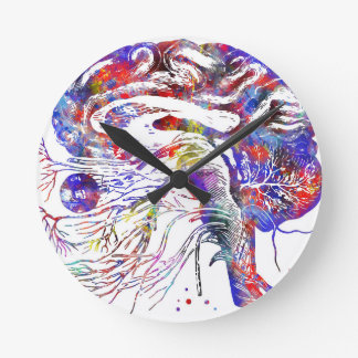 4522bBrain cranial nerves, brain cranial nerves Round Clock