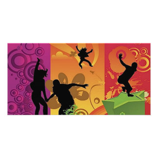 4532-Happiness-is-colorful Picture Card