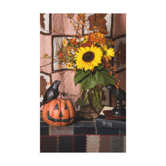 4538 Halloween Wrapped Canvas Print