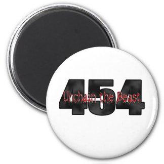 454 Big Block Beast 6 Cm Round Magnet