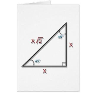 45-45-90 Triangle Card