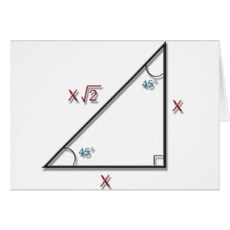 45-45-90 Triangle Greeting Card