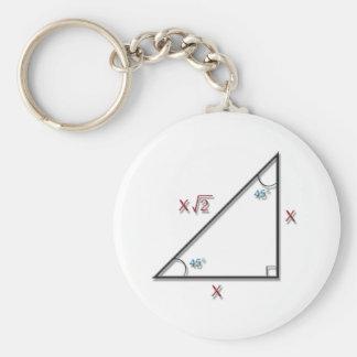 45-45-90 Triangle Key Chains