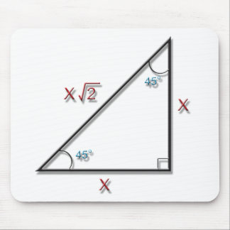 45-45-90 Triangle Mousepads