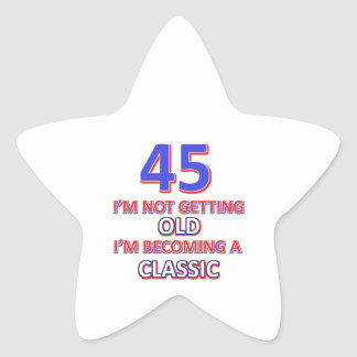 45 birthday designs star sticker