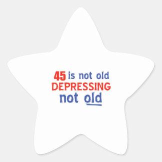45 is depressing not old birthday designs sticker
