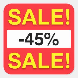 45 percent sale discount stickers