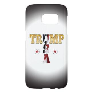 45 POTUS Trump USA Gold Glitter Flag Color