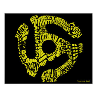 45 Record Adapter of Music Genres Poster