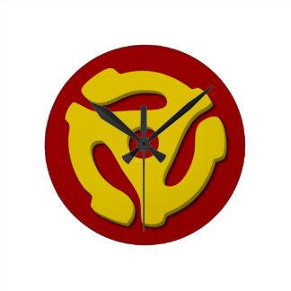 45 record adapter round clock