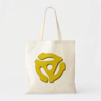 45 Record Adapter Budget Tote Bag