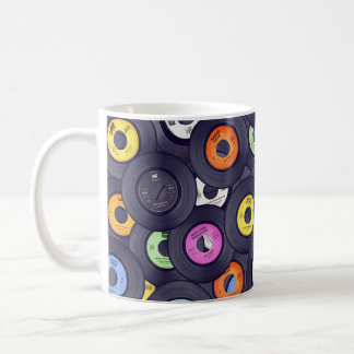 45 records coffee cup