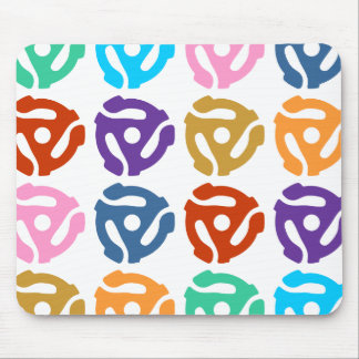 45 RPM Record Adapter Pop Art Mouse Pad