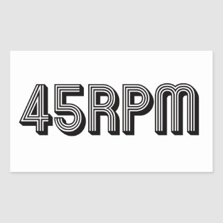 45 RPM Vinyl Lovers Rectangular Sticker