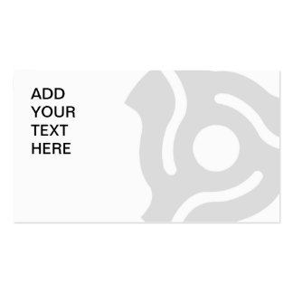 45 RPM Vinyl Single Record Adapter Business Cards