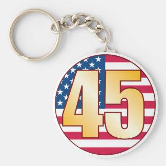 45 USA Gold Key Ring