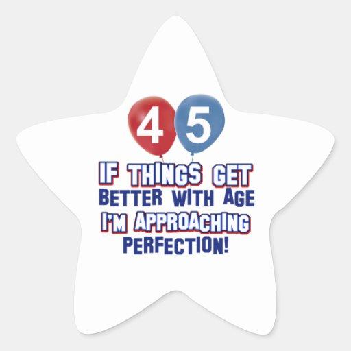 45 year old birthday design stickers