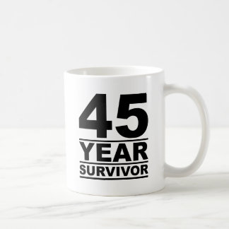 45 year survivor coffee mug