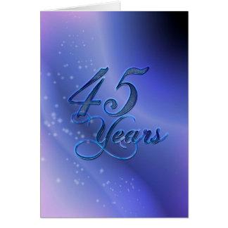 45 Years (anniversary) Card