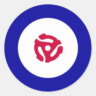 45rpm Mod Target T-Shirt Classic Round Sticker