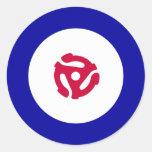 45rpm Mod Target T-Shirt Round Stickers