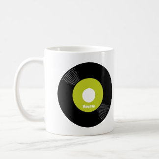 45s Record Mug (Lime) — PERSONALIZE IT!