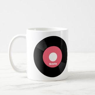 45s Record Mug (Pink) — PERSONALIZE IT!
