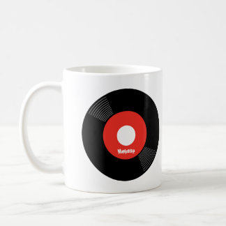 45s Record Mug (Red) — PERSONALIZE IT!