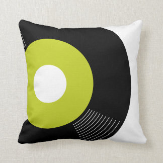 45s Record Pillow (Lime) — SQUARE Cushions