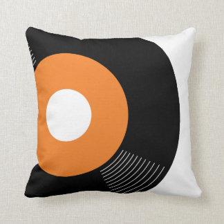 45s Record Pillow (Orange) — SQUARE Throw Cushion
