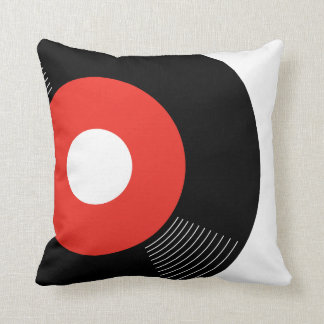 45s Record Pillow (Red) — SQUARE Throw Cushions