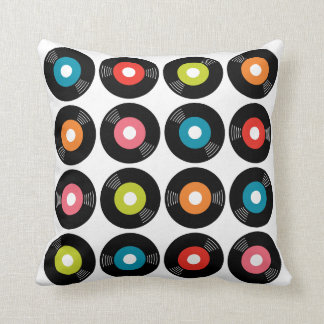 45s Record Pillow — SQUARE Throw Cushion