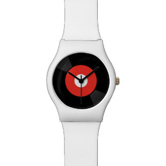 45s Record Watch (Red)