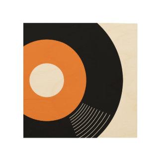 45s Record Wood Sign Orange 8x8 Wood Canvas