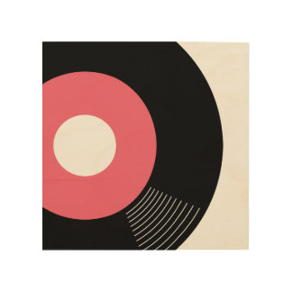 45s Record Wood Sign Pink 8x8 Wood Canvases