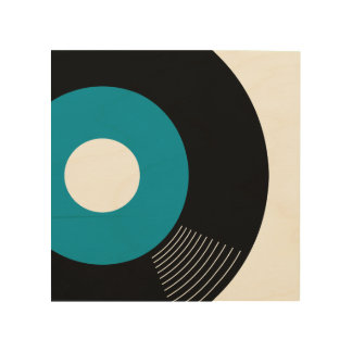 45s Record Wood Sign Teal 8x8 Wood Canvases