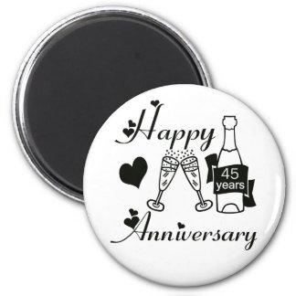 45th. Anniversary 6 Cm Round Magnet