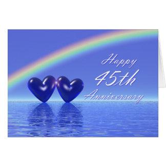 45th Anniversary Sapphire Hearts Card