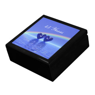 45th Anniversary Sapphire Hearts Large Square Gift Box
