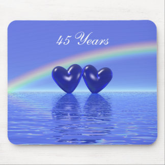 45th Anniversary Sapphire Hearts Mouse Pad