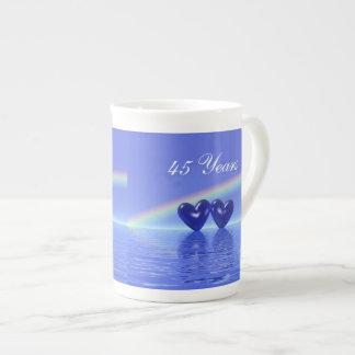 45th Anniversary Sapphire Hearts Tea Cup