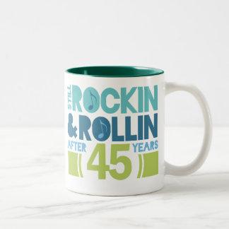 45th Anniversary Wedding Gift Two-Tone Coffee Mug