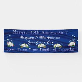 45th Anniversary White Roses Sapphire Custom Banner