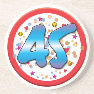 45th Birthday Beverage Coasters