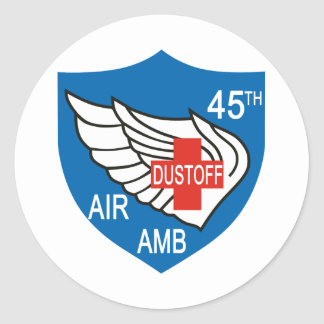 45th Medical Dustoff Patch Classic Round Sticker