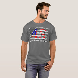 45th President Trump Fan Flag T-Shirt